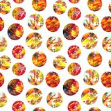 Bright expression abstract acrylic circles on a white background stock illustration