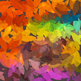 Bright abstract autumn foliage vector background Stock Images