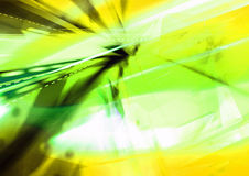 Bright abstract background. An illustrated, abstract background of bright streaks of white, yellow and green vector illustration