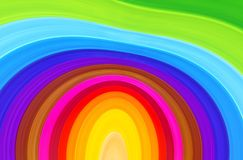 Color abstract background. Bright abstract background of blurred curved color strips Stock Photo