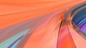 Bright abstract background. 3d illustration. Beautiful curved background from a glowing glass Stock Images