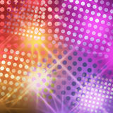 Bright abstract background with circles and stars. Illustration disco style unusual, original, will be a highlight of your designs.rays from the star give the vector illustration