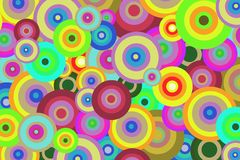 Bright abstract background of colored circles for design Stock Photos