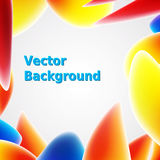 Bright abstract background with colorful shapes. Vector illustration for your presentations. Royalty Free Stock Photos