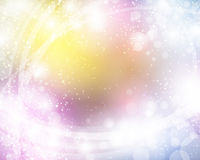 Bright Abstract Background. A bright colorful abstract background with stars and space elements stock illustration