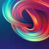 Bright abstract background with colorful swirl flow. Vector illustration. EPS10 vector illustration