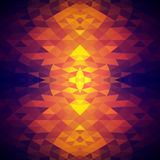 Bright abstract background with crystalline structure. Pattern of triangles. Color spots. Stock Image
