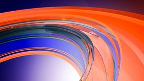 Bright abstract background. 3d illustration. Beautiful curved background from a glowing glass Royalty Free Stock Image
