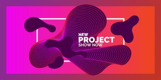 Bright abstract background with a dynamic waves of minimalist style. Vector illustration for website design royalty free illustration