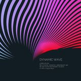Bright abstract background with a dynamic waves of minimalist style. Vector illustration Royalty Free Stock Photo