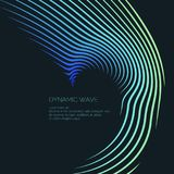 Bright abstract background with a dynamic waves of minimalist style. Vector illustration Royalty Free Stock Photography