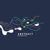 Bright abstract background with a dynamic waves and splash in a minimalist style. Vector illustration. For website design Royalty Free Stock Images