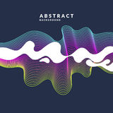 Bright abstract background with a dynamic waves and splash in a minimalist style. Vector illustration. For website design royalty free illustration