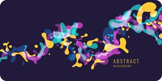 Bright abstract background with explosion of colored splashes. Vector illustration. In flat minimalistic style Stock Photography