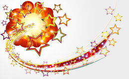 Bright abstract background with explosion stars. Royalty Free Stock Photo