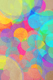 Bright abstract background bokeh. Bright abstract background of festive colourful circles simulating a bokeh of party lights with a heart and text for Love You Royalty Free Stock Photos