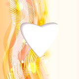 Bright abstract background with heart Stock Image