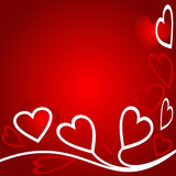 Bright abstract Background with hearts for Valentine's Day Stock Photos