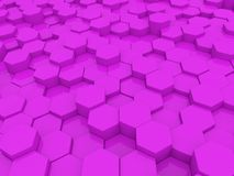 Bright abstract background of hexagons . 3d rendering illustration royalty free illustration