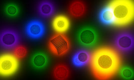 Bright abstract background. Abstract background with lights volumetric objects made ​​in 3d vector illustration