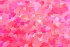Bright abstract background in pink tones. Colorful abstract background of spots of pink and crimson glamorous shades, reminiscent of rose petals Stock Illustration