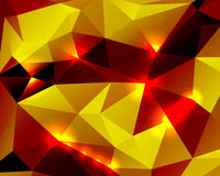 Bright abstract background polygon Stock Photography