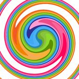 Bright abstract background with a rotating spiral Color cyclic twirl vortex for design and creativity Technology colorful pattern royalty free illustration