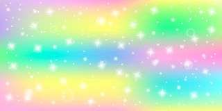 Bright abstract background with shining stars in a palette of pastel colors unicorn with bokeh effect vector illustration