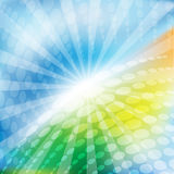 Bright abstract background. Spring morning background drawn in bright colours with use of a circular pattern Stock Image