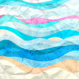 Bright abstract background of waves Stock Images