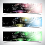 Bright abstract banners collection. Vector illustration eps 10 Stock Photos