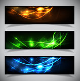 Bright abstract banners collection. Royalty Free Stock Photo
