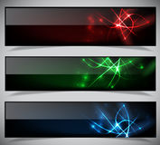 Bright abstract banners collection. Vector illustration eps 10 Royalty Free Stock Photos
