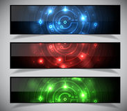 Bright abstract banners collection. Royalty Free Stock Image