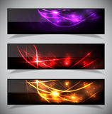 Bright abstract banners collection. Stock Images