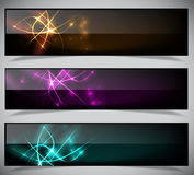 Bright abstract banners collection. royalty free stock images