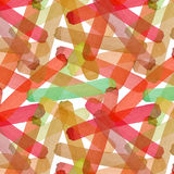 Bright abstract beautiful transparent elegant graphic artistic texture autumn yellow, orange, green, red, light brown lines patter. N of watercolor hand sketch Stock Photography