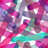 Bright abstract beautiful transparent elegant graphic artistic texture red, pink, purple, violet, magenta, green lines pattern of. Watercolor hand sketch royalty free illustration