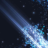 Bright abstract blue light shimmering background Royalty Free Stock Images