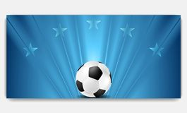 Bright abstract blue soccer background Stock Photos