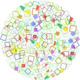 Bright abstract bubbles colorful background Royalty Free Stock Photography