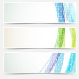 Bright abstract cards headers footers set Royalty Free Stock Images
