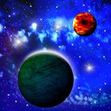 Bright abstract celestial landscape Stock Photo