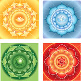 Bright abstract circle backgrounds mandasla chackra  Royalty Free Stock Photos