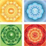 Bright abstract circle backgrounds mandasla chackra  Royalty Free Stock Photos