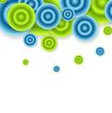 Bright abstract circles vector design. Template Royalty Free Stock Image