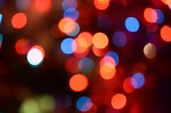 Abstract bright circular bokeh background blur. Bright abstract circular bokeh background blur on a dark background stock images