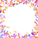 Bright abstract confetti circle explosion background. Falling is vector illustration