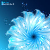 Bright abstract cosmic vector flower background Royalty Free Stock Photos