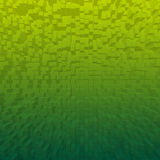Bright abstract cubes green background Stock Photos
